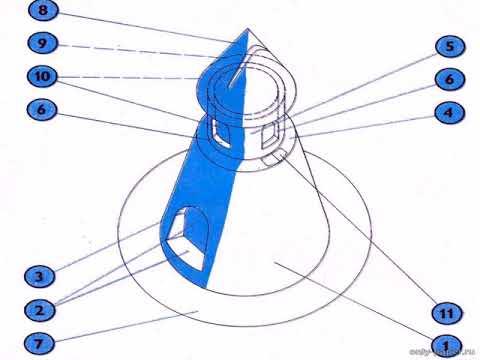 Как сделать пизанскую башню из бумаги своими руками