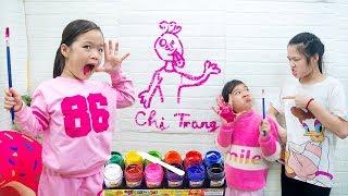 Ba Chị Em Bất Đồng ❤ Kiều Anh Vẽ Tam Mao - Trang Vlog