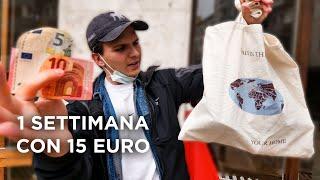 CUCINARE con 15 Euro per UNA SETTIMANA