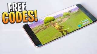 HOW TO GET FREE FORTNITE MOBILE CODES (iOS/ANDROID) - Fortnite: Battle Royale