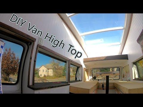 How to Build a DIY wood Hightop on a Van - Hightop Campervan Part 2/2