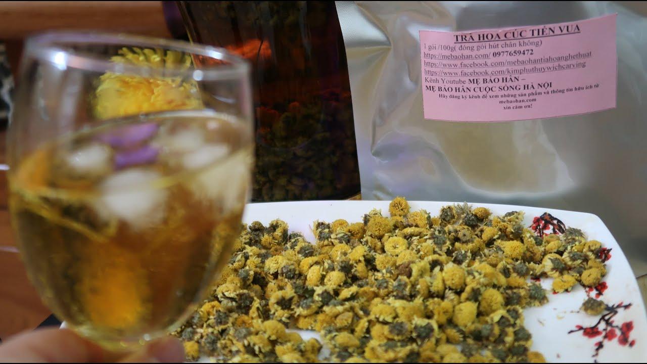 cách ngâm rượu trà hoa cúc khô chữa mất ngủ./trà hoa cúc chi vàng @MẸ BẢO HÂN