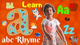 ABCD Alphabet Song For Kids | A to Z Learning With 3 Years Old | Let's Learn A to Z