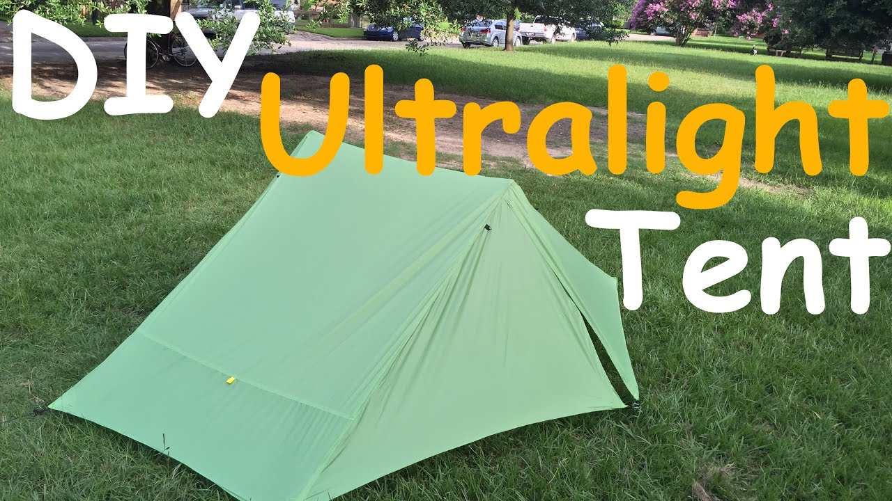 DIY Ultralight Tent MYOG Project & DIY Ultralight Tent MYOG Project - YouTube