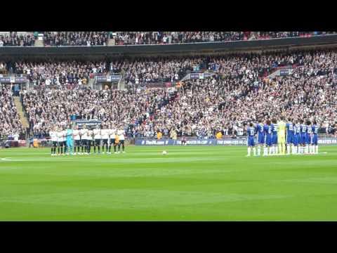 Applause for Ugo Ehiogu at Chelsea v Tottenham Emirates FA Cup SF Wembley