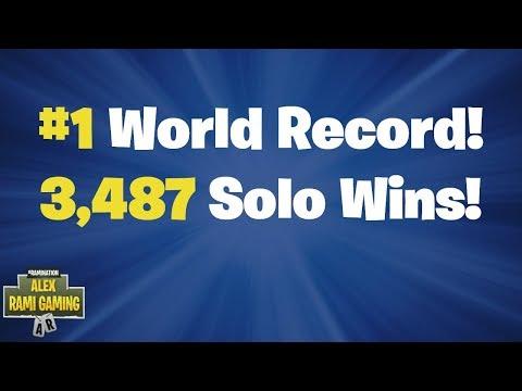 #1 World Record 3,487 Solo Wins | Fortnite Live Stream