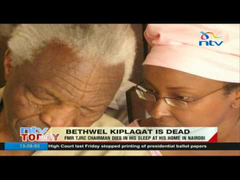 Former TJRC chairman Bethwel Kiplagat dies in his sleep at his Nairobi home