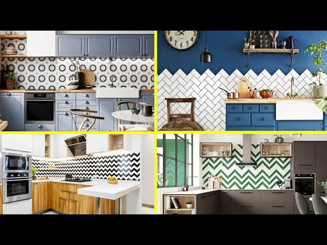 Modular Kitchen Wall Tile Designs