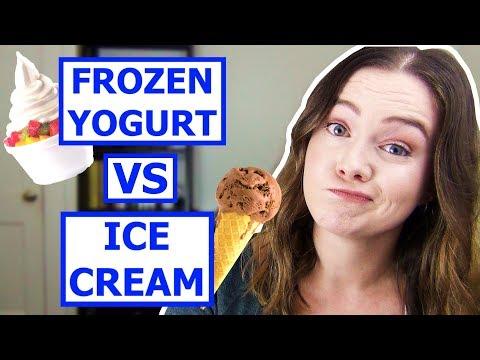 Frozen Yogurt HEALTHIER Than Ice Cream?