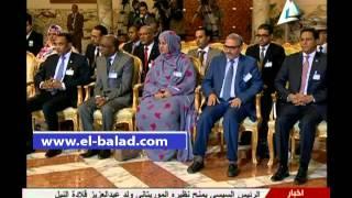 بالفيديو.. السيسي ونظيره الموريتانى يشهدان توقيع اتفاقيات فى مجال الثروة البحرية