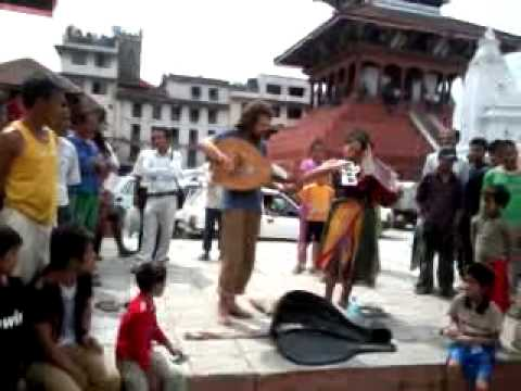Playing music By Tourist in Nepal