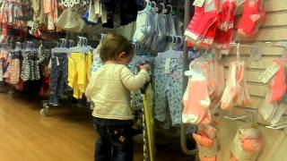 Shopping of 16 months old baby girl