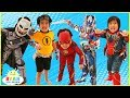 Kids Costume Runway Show Pretend Play with Disney Superheroes, Pj Masks, Rusty Rivets!