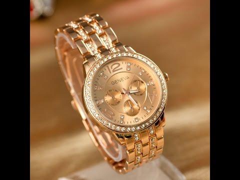 Женские золотые часы Geneva с сайта алиэкспресс