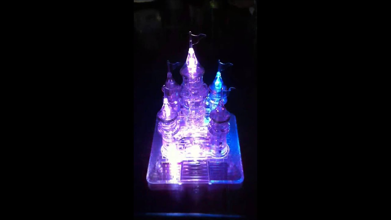 3d Crystal Puzzle Castle Youtube