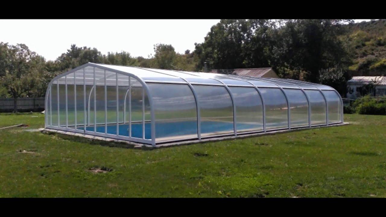 Cubierta de piscina de techo fijo precios youtube - Techo piscina cubierta ...