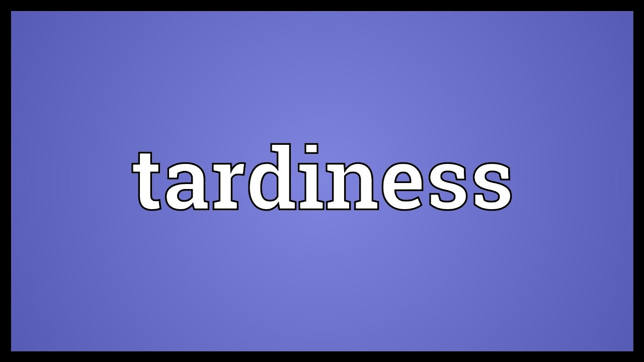 tardiness and military bearing