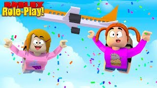 Roblox Roleplay - Skydiving With Molly And Daisy!