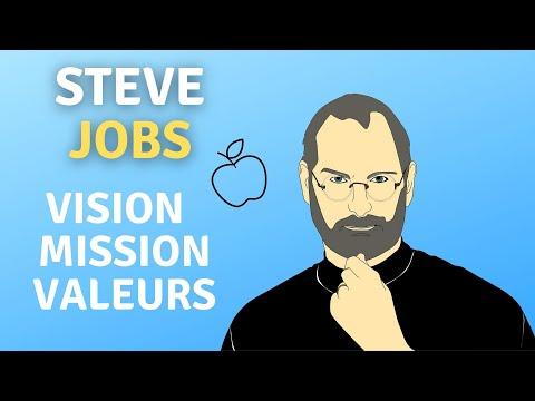 Steve Jobs Vision,  Mission, Valeurs
