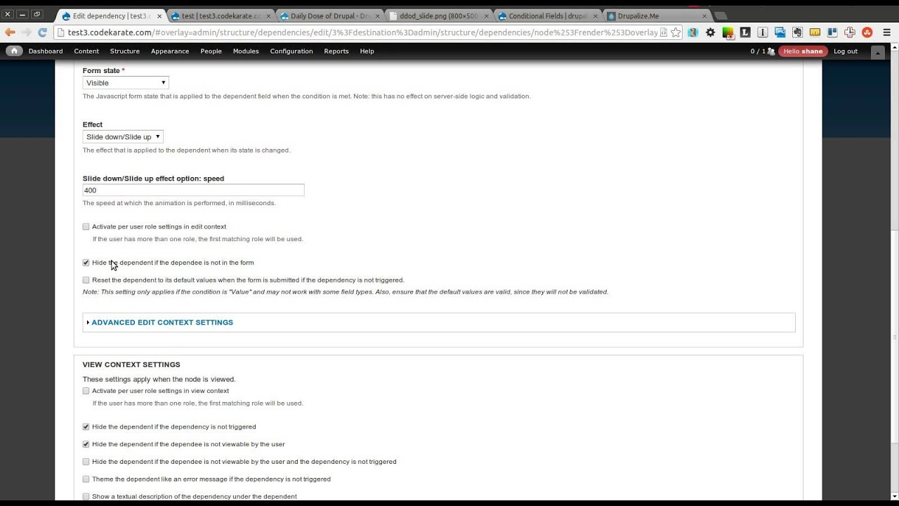 Drupal 7 Conditional Fields Module - Daily Dose of Drupal episode 104