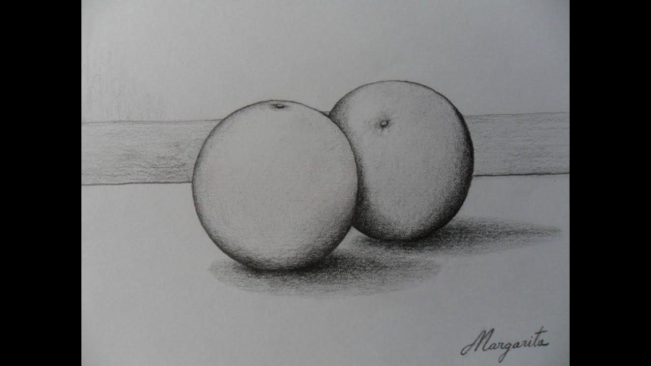 Ejercicio Rápido De Volumen Con Frutas Redondas Como Dibujar