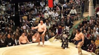 20150322 大相撲春場所千秋楽 稀勢の里と琴奨菊の塩まき.