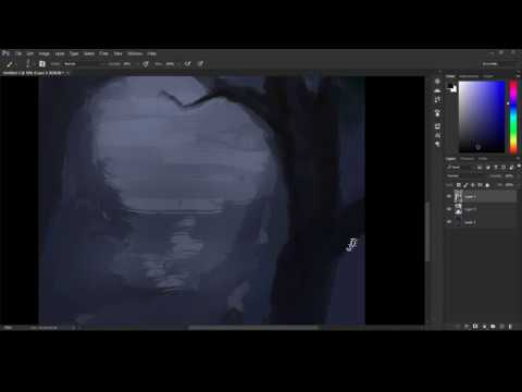 A Swim with the Moon [LIVE painting]