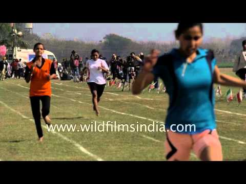 Women's 200 meter race captured in slow motion - Ludhiana