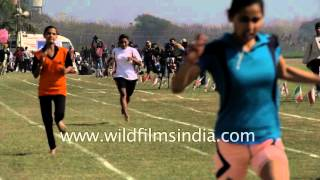 Women's 200 meter race captured in slow motion - Ludhiana