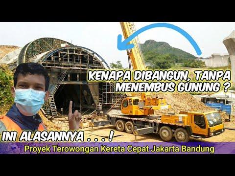 TANPA MENEMBUS GUNUNG, Terowongan Proyek Kereta Cepat Jakarta Bandung KCIC 2021