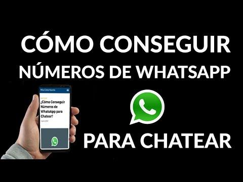 Cómo Conseguir Números de WhatsApp para Chatear