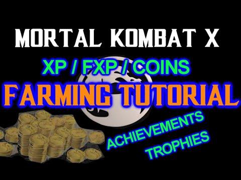 Mortal Kombat X - How To Farm XP / FXP / COINS -