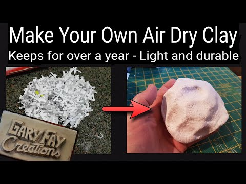 How to make paper clay (full recipe)