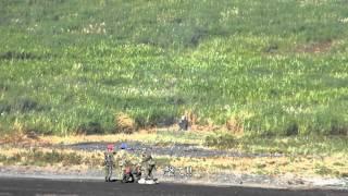 【総合火力演習2012】迫撃砲(朝の射撃点検時)