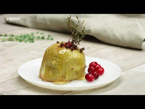 Печёное яблоко с мёдом и клюквой [Рецепты от Рецептор]