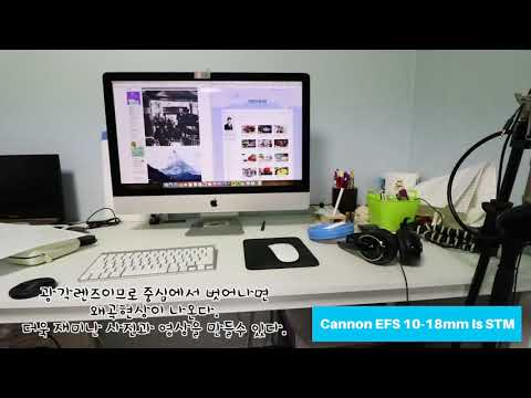 Cannon efs 10-18 is STM, real view of movie