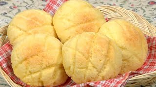 How to Make Melonpan (Melon Bread Recipe) | Cooking with Dog