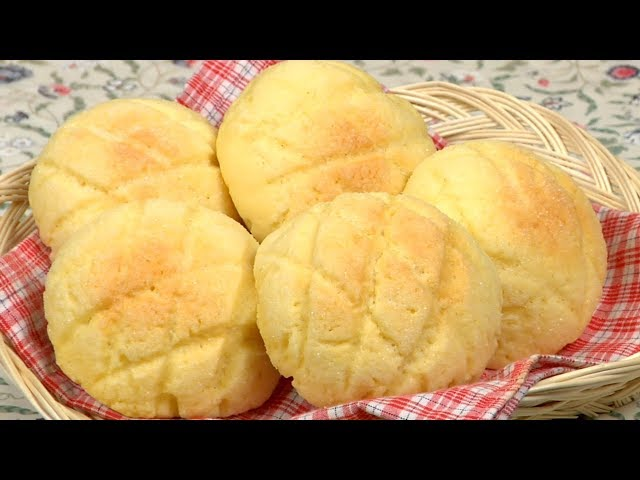 How to Make Melonpan (Melon Pan / Melon Bread Recipe)   Cooking with Dog