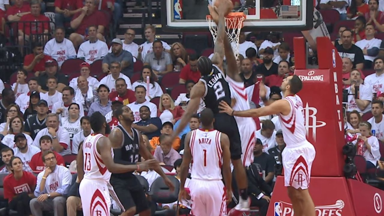 Kawhi and Harden Go Back-to-Back with Great Dunks | May 5, 2017