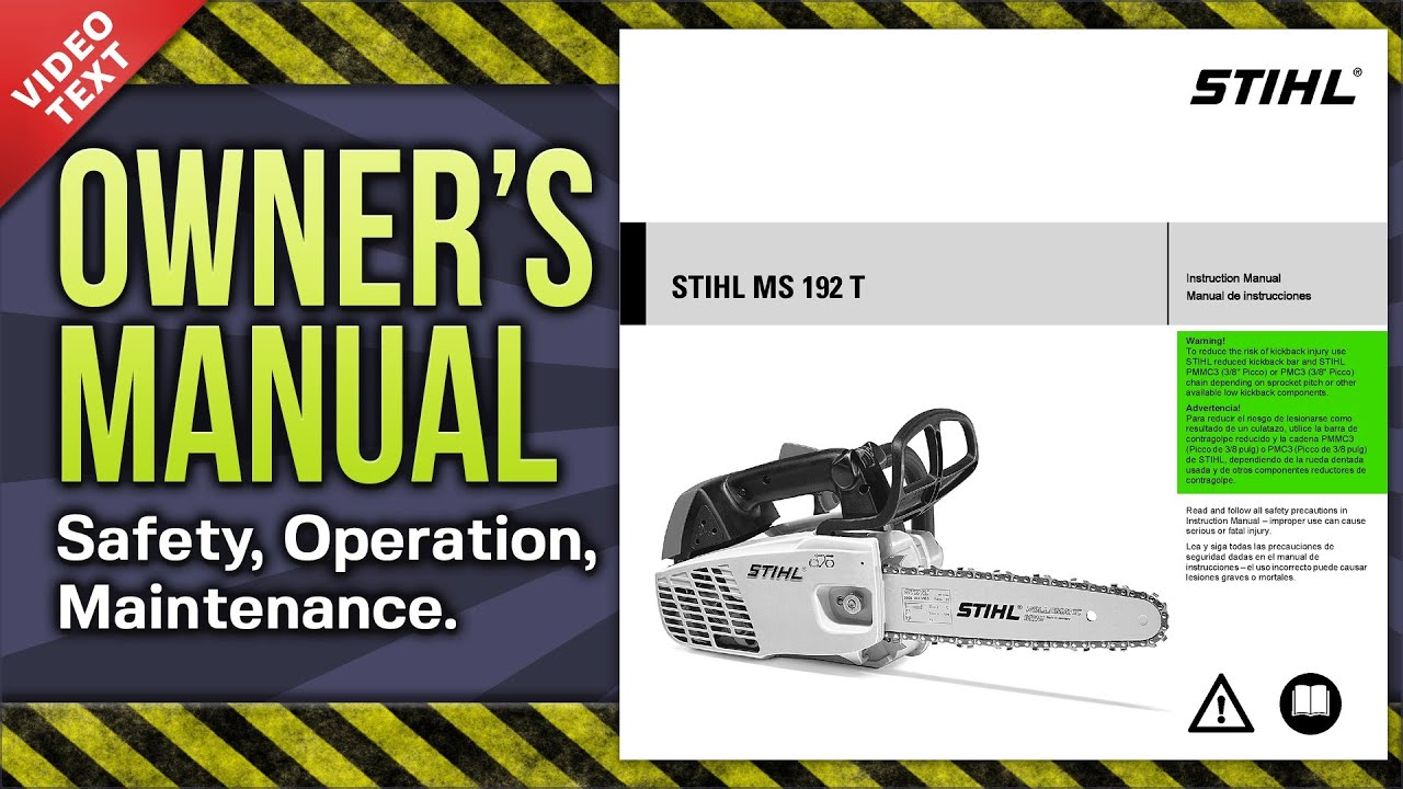owner's manual: stihl ms 192 t/tc arborist chain saw