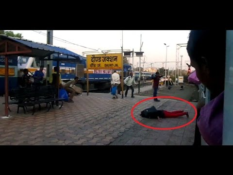GIRL FALLS DOWN From a Moving TRAIN : Dramatic Entry into Daund Junction (Indian Railways)