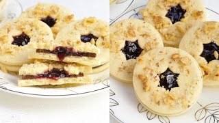 Linzer Raspberry Chocolate Cookies, Haniela's