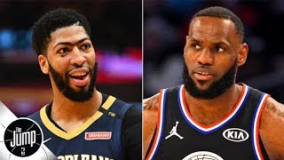 LeBron says he and Anthony Davis will push each other harder than anyone else could | The Jump