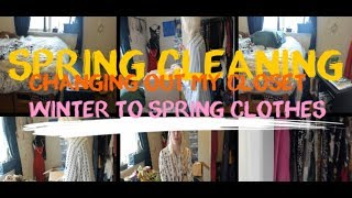 SPRINGCLEANING-swapping winter to summer clothes-  A day in the life of a 6'2 woman