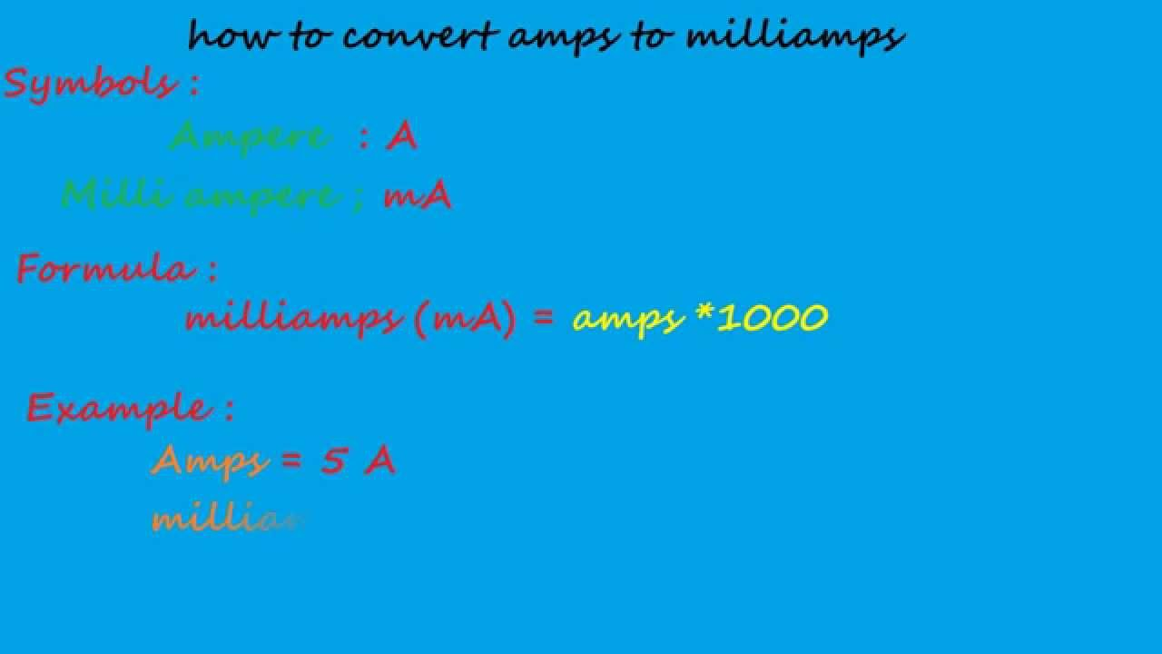How to convert amps to milliamps electrical formulas youtube how to convert amps to milliamps electrical formulas geenschuldenfo Images