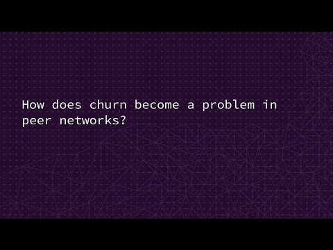 How does churn become a problem in peer networks?
