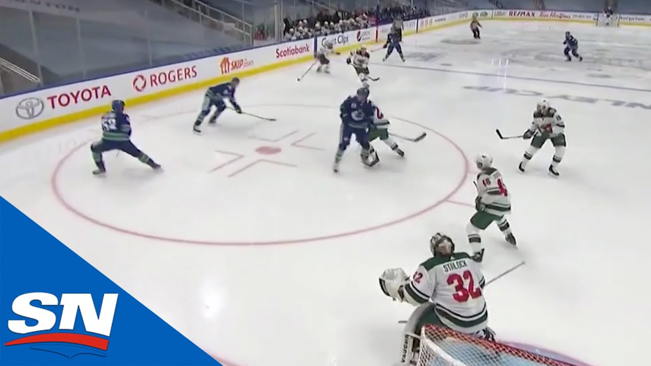 Tanner Pearson Toe Drags Then Rips Shot Top Shelf