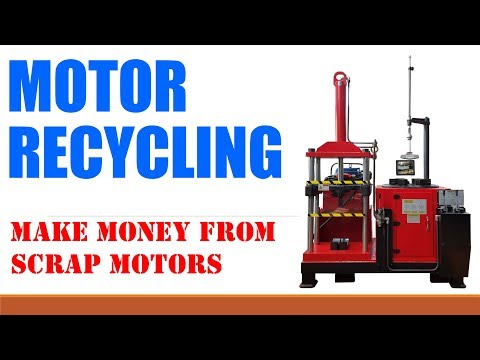 Used industrial electric motor recycling machine mw 808ii for Electric motor recycling machine