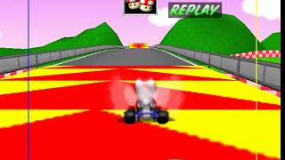 Mario Kart 64 N64 - Beating Royal Raceway Staff Ghost