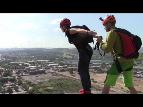 BASE Jump HTC Building Pretoria - RAWHeroes Tim Howell and Ewa Kalisiewicz